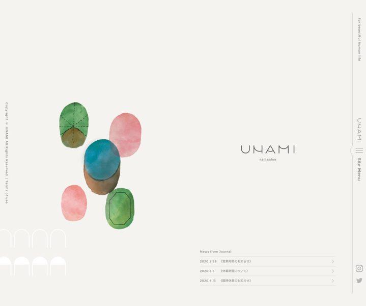 UNAMI | 神宮前にある予約制の小さなネイルサロン